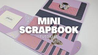 MINI SCRAPBOOK TUTORIAL | SCRAPBOOK IDEAS