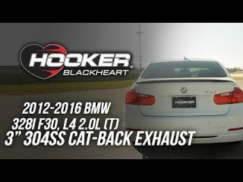 2012-2016 BMW 328i F30, L4 2.0L - Hooker Blackheart Cat-Back Exhaust BH8314