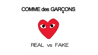 COMME des GARÇONS Play - Real vs Fake