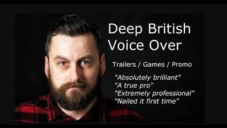 I will record a professional, epic, deep british male voice over