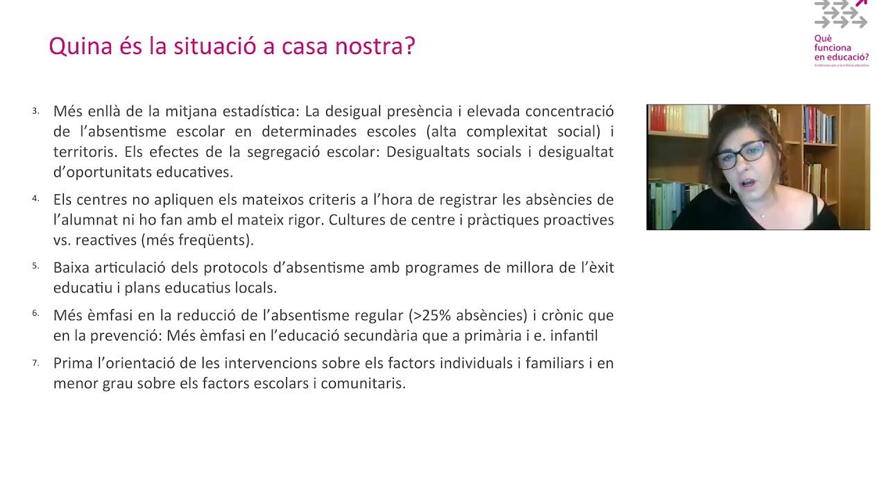 La lluita contra l'absentisme escolar: quina és la situació a Catalunya? - Maribel Garcia