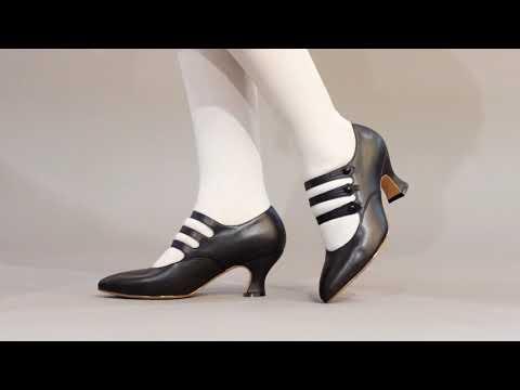 PRE-ORDER Bellatrix Edwardian Shoes (Black)