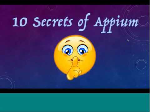 10 Things You Didn't Know About Appium + What's New in Appium 1.5 Related YouTube Video