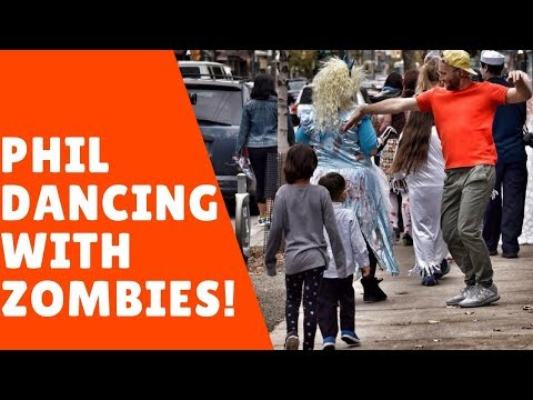 Phil dancing with Zombies!