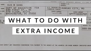 A $10,000 Student Loan Refund Check?   What To Do With Extra Income   Aja Dang
