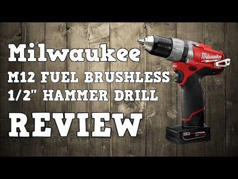 Milwaukee M12 Fuel Brushless 1/2″ Hammer Drill 2404-22 CDD-402C Review