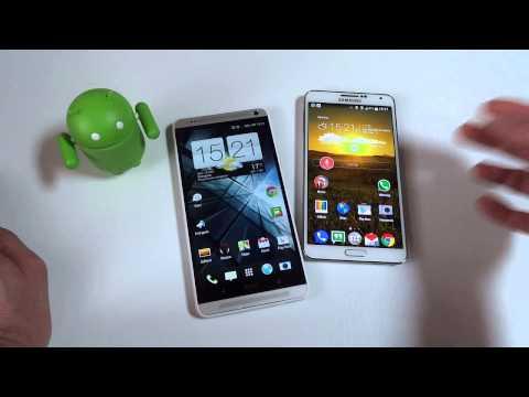 Foto Video Confronto: HTC One Max vs Samsung Galaxy Note 3