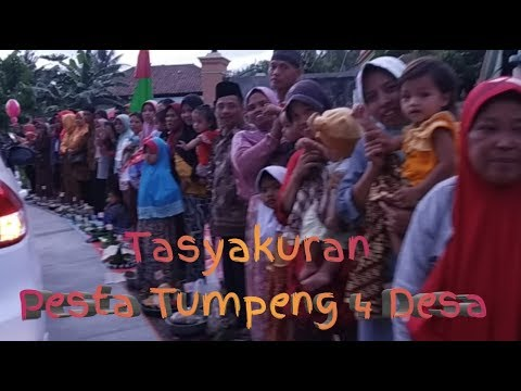 Pesta Tumpeng Sepanjang Jalan Desa Pesanggrahan , Keleng , Karang Jengkol Dan Ciwuni
