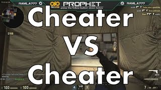 Cheaters vs Cheater (Full out spinbot) CS:GO Global Game