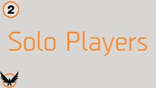 The Division 2 Solo Player Gameplay Info