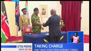 Noordin Haji and Paul Kihara sworn in as new director of public prosecutions and attorney general