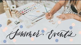 Summer VLOG: Chalkboard Mural, Live Painting, + Pressed Flower Art