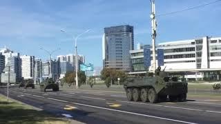 В центре Минска появилась бронетехника. ВИДЕО
