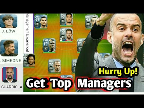 Best Managers for Online Match in PES 2018 MOBILE - смотреть