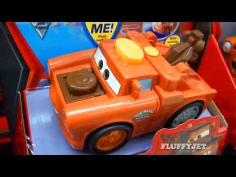 Disney Cars 2 Shake N Go Cars From Fisher-Price Pixar Mattel Cars 2 Talking Toys Jeff & Mater Light