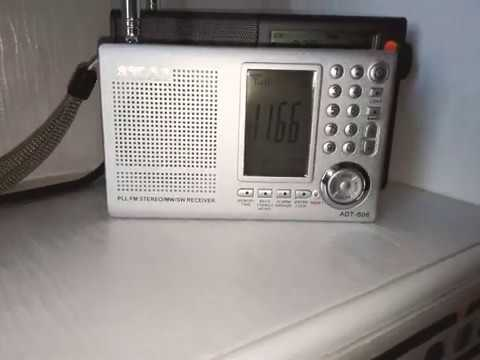 XHDATA D-808 & AKAI ADT-S06 Karşılaştırma testi..  11660 KHz Voice of Turkey (Türkiye'nin Sesi R.)