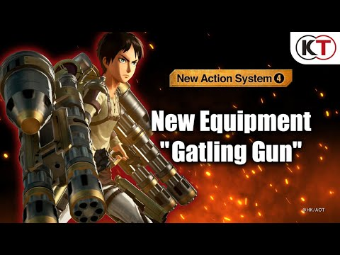 Attack on Titan 2: Final Battle : New Equipment: Gatling Gun