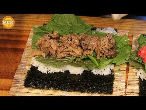 제주 동문야시장 │ 흑돼지 김밥 & 장어 김밥 │ Gimbap with Grilled Eel & Pork │ 한국 길거리 음식 │ Korean Street Food