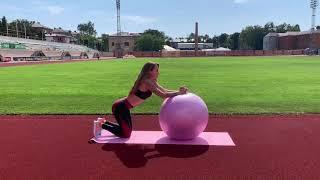 """М'яч для фітнеса і гімнастики PowerPlay 4003 65см lilac от компании Интернет-магазин """"Domino"""" - видео"""