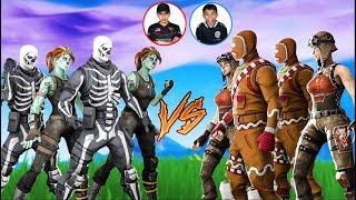 Team Diamond VS Team Mini Pro Fortnite Tournament 4! Insane Clan Battle Against Little Brother!