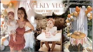 WEEKLY VLOG: first birthday prep + party