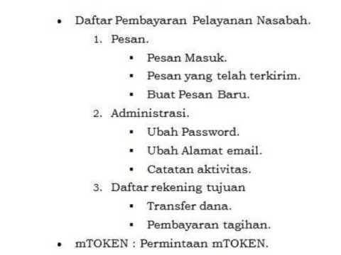 Bank BRI Internet Banking