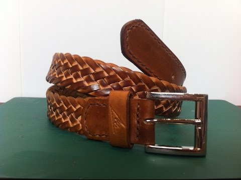 Cómo hacer un cinturón de cuero trenzado  con nueve cabos