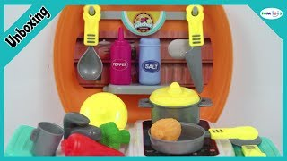Unboxing Kitchen Cooking Suitcase Playset, Most Beautiful Cooking Toys
