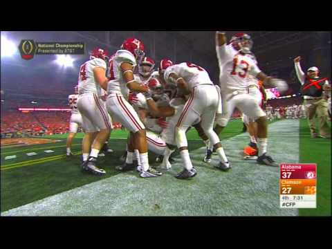 Kenyan Drake returns kickoff 95 yards for a touchdown - Alabama vs Clemson