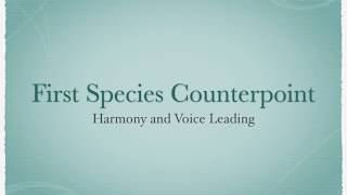 First Species Counterpoint