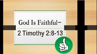 # God is Faithful