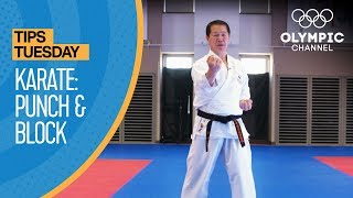 How to punch and block in Karate | Olympians