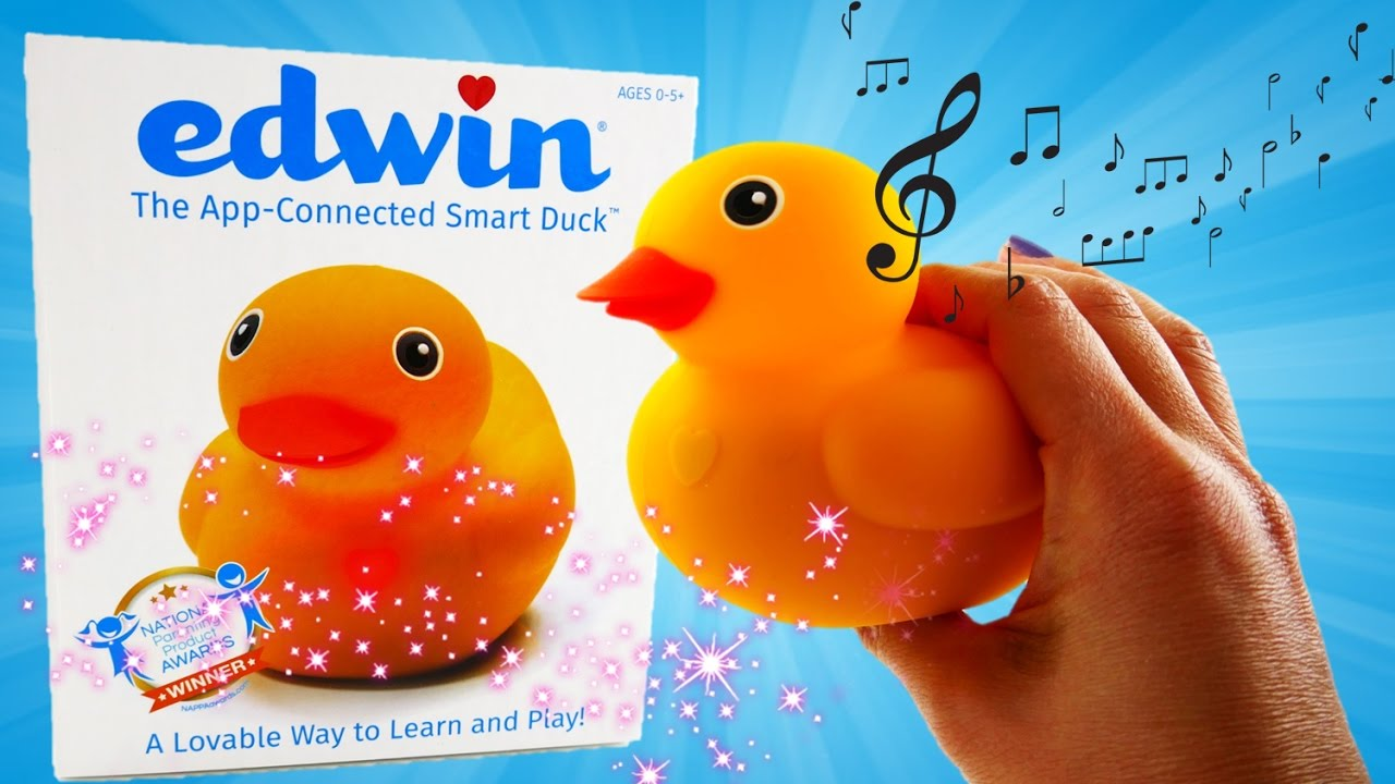 Edwin the Duck - Interactive Rubber Ducky Smart Duck Preschool Toy Unboxing and Review