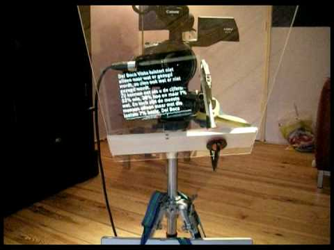 how to make the simplest autocue or teleprompter in the world