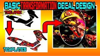 BASIC TRANSFORMATION DECAL DESIGN   MAKEOVER   TIMELAPSE
