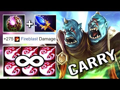 WTF INFINITY STUN Scepter Carry Ogre Magi Octarine Core + Talent 25 Imba 7.17 Dota 2