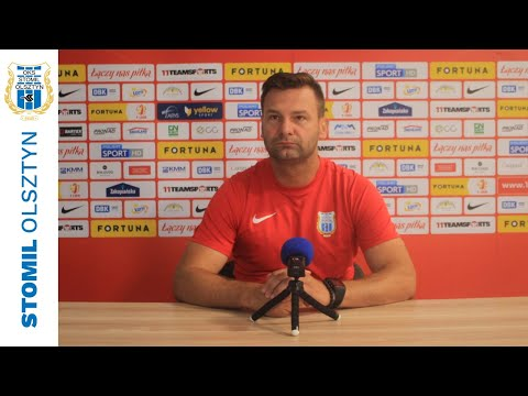 Adrian Stawski przed meczem Stomil Olsztyn - Arka Gdynia