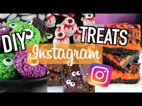 Easy DIY Halloween Treats! Instagram Inspired Recipes 2017