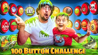 100 Mystery Button Challenge! Only 1 WILL SAVE YOU & help Escape the Box with CASH $$ (FV Family)