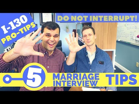 5 USCIS Marriage Fraud Interview Tips for 2017 - 2018
