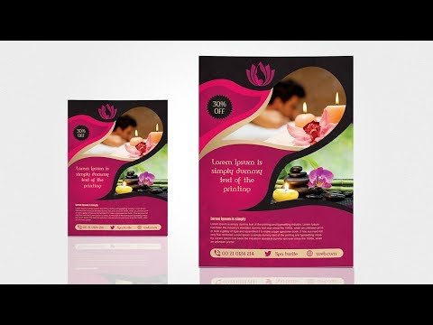 Spa & Beauty Saloon Flyer | Photoshop Toturial Mp3