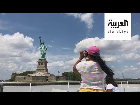 العرب اليوم - شاهد: تمثال الحرية الشهير يستقبل زواره من جديد