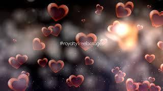 moving hearts background | love background | heart background video | romantic background effect