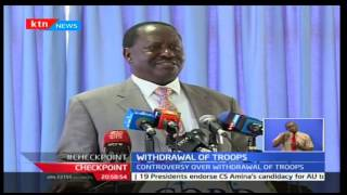 CheckPoint: William Ruto explains the withrawal of troops from South Sudan