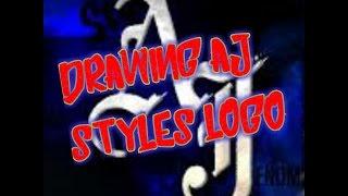 Drawing aj styles logo