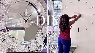 DIY LARGE LIVING ROOM CLOCKS! HOW TO ON A BUDGET!