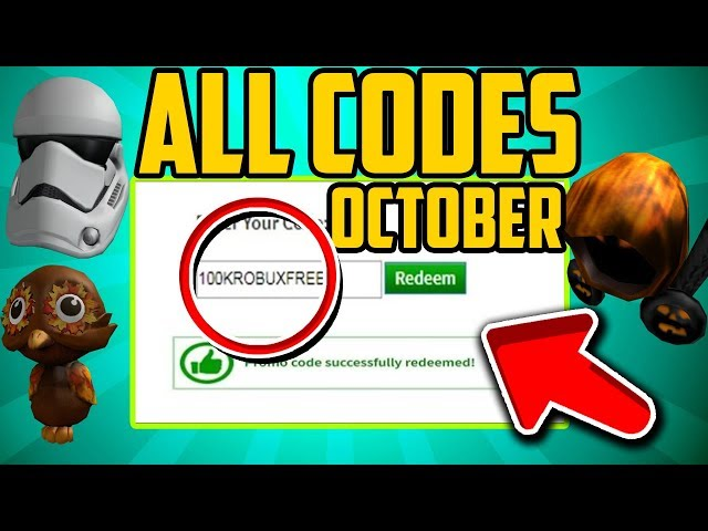 October All New Working Promo Codes In Roblox 2019 Halloween Roblox Promo Codes Not Expired Vtomb