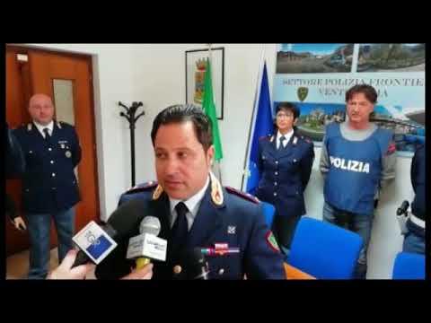 RAPINATORE STRANIERO ARRESTATO A VENTIMIGLIA DALLA POLIZIA DI FRONTIERA