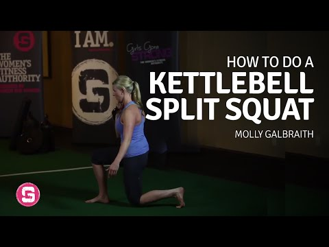 Split Squat With Kettlebells