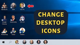 Change Desktop Shortcut icons in Windows 10